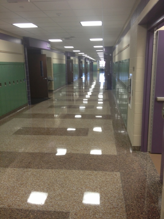 This picture displays a professional commercial tile installation by Youngstown Tile and Terrazzo.