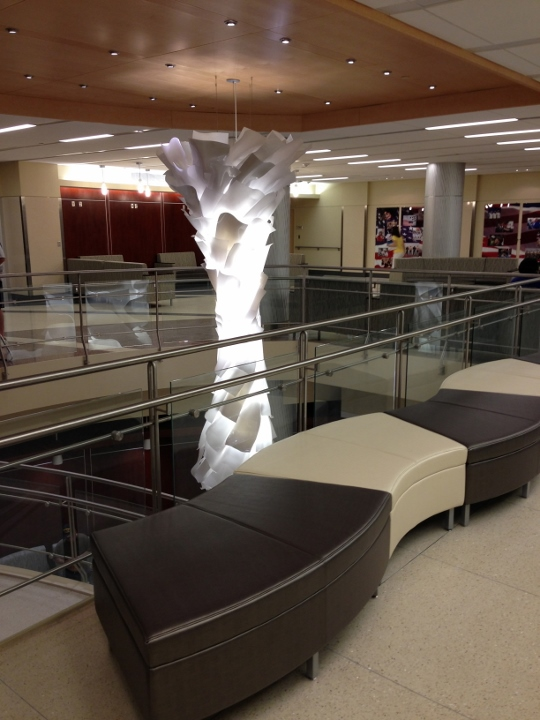 This picture shows a tile installation at VA Wade Park. The tile was installed by Youngstown Tile & Terrazzo.